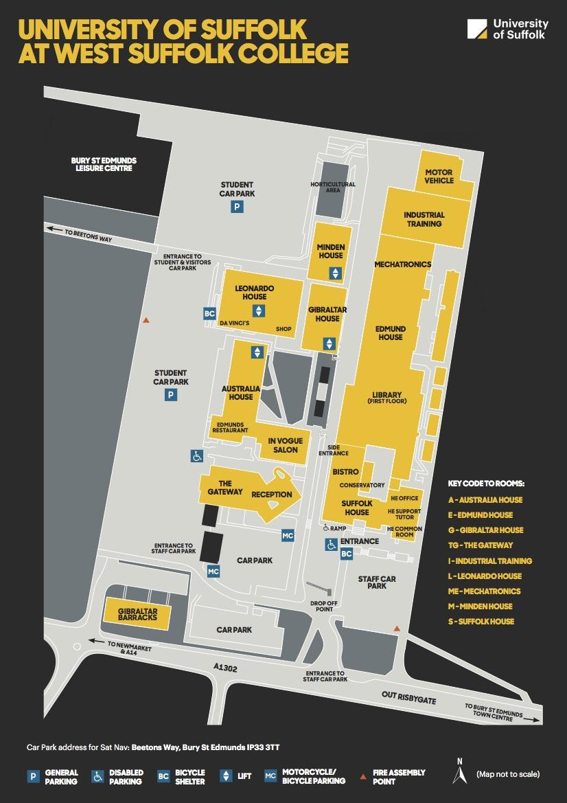 Map West Suffolk College